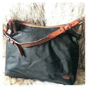 Black Nylon Dooney & Bourke Handbag